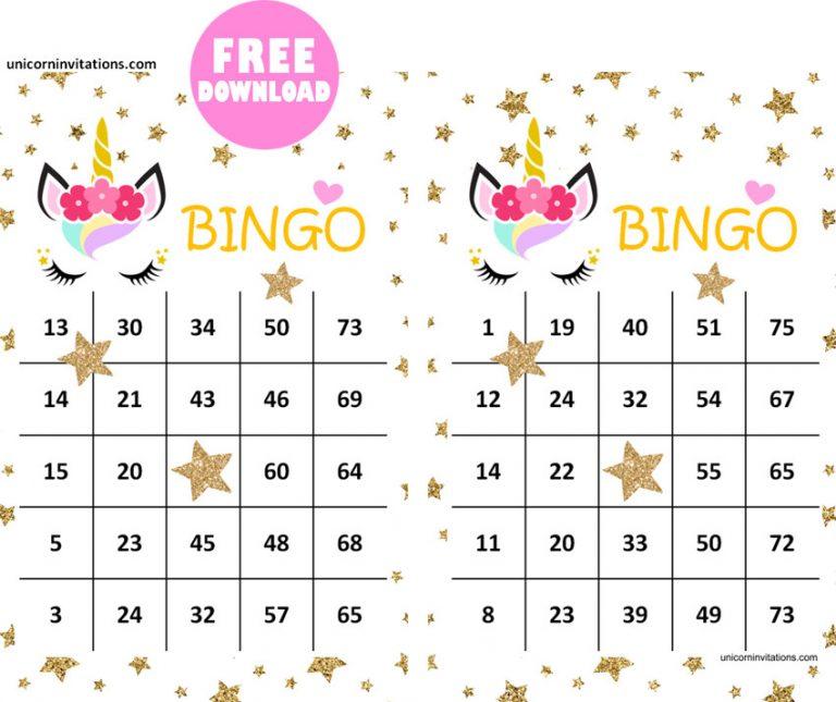 Free Unicorn Bingo